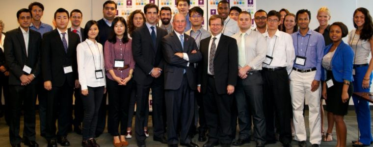 CUSP Student Photo with Mayor Bloomberg