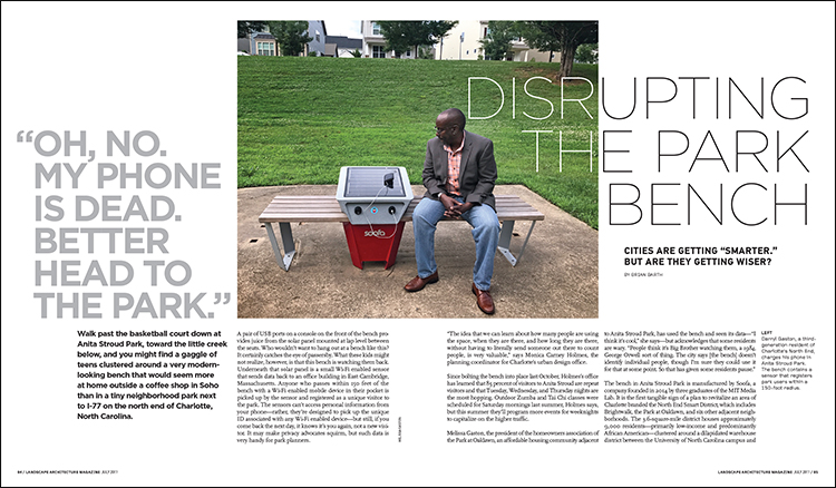 Disrupting the Park Bench Article