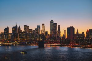 A beautiful view of New York City and the Brooklyn Bridge