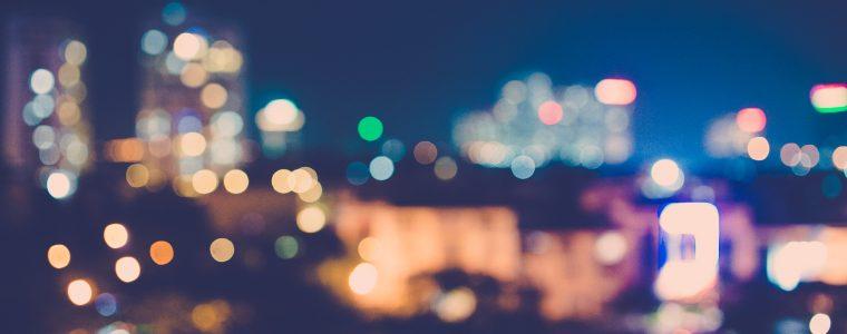 Sparkling night lights