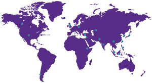 World map of NYU CUSP students