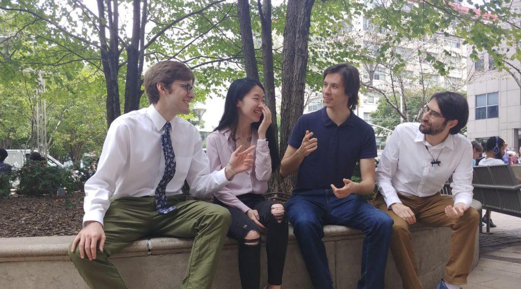 NYU CUSP students John Lundquist, Yixuan Tang, Keith Dumanski, and Julian Ferreiro