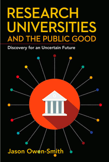 "Book Cover of ""Research Universities and the Public Good"""